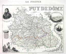 FRANCE Department Puy de Dome & View of C. Ferr... - $11.78