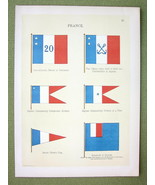 FLAGS France Naval Governors of Colonies - 1899... - $11.78