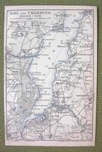 GERMANY Port of Kiel & Environs - 1904 MAP ORIG... - $4.63