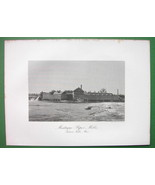 TURNER FALLS Massachusetts Montague Paper Mills Building - 1876 Antique ... - $20.20