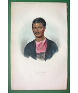INDIA Ethnography Ram Ruttun Brahman - 1840s H/... - $15.56