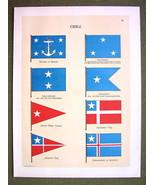 FLAGS CHILE Naval Marine Vice Admiral Diplomati... - $12.20