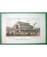 PHILADELPHIA EXPOSITION of 1876 Litho Print - Campbell Printing Press Bu... - $8.83