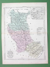 MAP FRANCE Department Loire & Environs of Montb... - $4.20