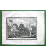 INDIA Funeral of Birman Priest Talapoin - 1814 ... - $18.51