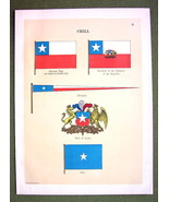 FLAGS Naval Marine Chile Chili Coat of Arms Jac... - $12.20