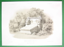 ARCHITECTURE PRINT : Gemany Cologne Tomb of Wallraf & Richartz - $18.51
