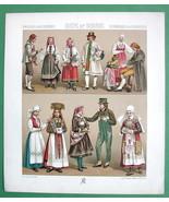 SWEDEN & NOrway Costume of Natives Married Coup... - $15.15