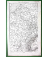 1859 ANTIQUE MAP - East of France & Piedmont in... - $20.20