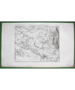 1859 ANTIQUE MAP - Czech Republic Environs of B... - $25.24