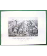 NEW YORK Oswego Starch Factory Inc in 1848 - Antique Print - $29.36
