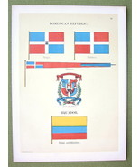 FLAGS Dominican Republic & Equador Coat of Arms... - $11.78
