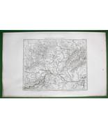 1859 ANTIQUE MAP - NE Austria, Moravia in Czech... - $25.24
