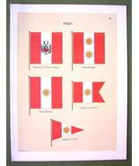 FLAGS PERU Admiral Captain de Navio Naval Marin... - $12.20