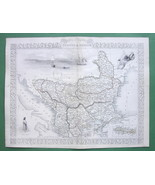 TALLIS MAP Antique Original 1851 - TURKEY in Eu... - $54.70