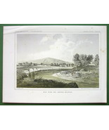 AMERICAN WEST Montana Milk River & Panther Mountain - 1850s Tinted Litho... - $13.46