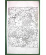 1859 ANTIQUE MAP - France Environs of Montereau... - $25.24