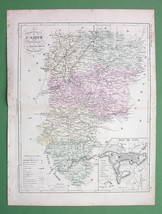 MAP FRANCE Department l'Aisne & Plan of Laon - ... - $4.20