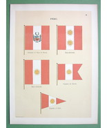PERU Naval Flags Captain of Port Vice Admiral -... - $16.41