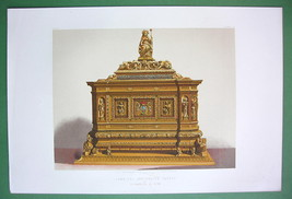 JEWEL CASKET of Cardinal Antonelli Italy - VICTORIAN Color Antique Print... - $20.20