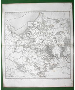 1859 ANTIQUE MAP - Prussia Poland betw Warsaw &... - $20.20