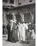 NUDE Slave Market Arab Dealers by Gerome - 1880... - $20.20