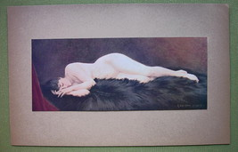 NUDE Young Maiden Asleep - COLOR Offset Litho Print - $20.20