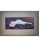 NUDE Young Maiden Asleep - COLOR Offset Litho P... - $20.20
