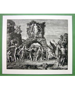 NUDE Greek Gods on Mount Parnassus - SUPERB Ant... - $20.95