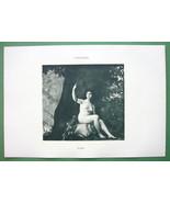 NUDE Huntress Goddess Diana - VICTORIAN Lichtdr... - $20.20