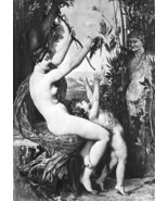 NUDE Nymph & Infant Bacchus !! Victorian Antiqu... - $18.51