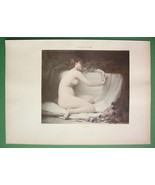 NUDE Young Maiden Asleep Albine - COLOR Lichtdr... - $16.79