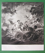 NUDE Artist Boucher as Vulcan Forge Venus Theti... - $15.15