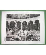 NUDE Royal Court Ladies ai Garden Bath !! VICTO... - $20.95
