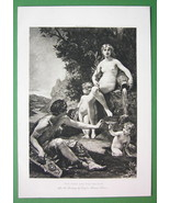 NUDE Mythology Poet Inspired by Nymph at Water ... - $11.78