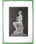 NUDE Statue of Young Girl as Tanagra by Gerome ... - $20.20