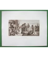 NUDE Slave Merchant Roman Buys Girls Slaves - Victorian Era Print - $21.00