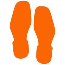 LiteMark Orange Bootprint Decal Stickers - Pack of 12 - $19.95