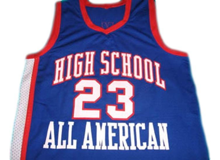 Lebron james  23 high school all american new basketball jersey blue