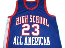 Lebron James #23 High School All American Basketball Jersey Blue Any Size image 1