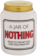 """Our Name is Mud """"Nothing"""" Ceramic Jar with Lid, 5.5 Inches - $21.24"""