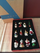 Avon 2008 Christmas Holiday Glass Ornaments 12 Set - $19.95