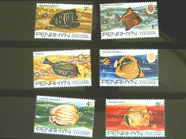 PENRHYN ISLANDS Set of 6 Stamps-Exotic Fish-MINT  Free Shipping MNH #700133 - $1.73