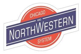 Chicago Northwestern Line Sticker Railroad Train R171 Choose Size From Dropdown - $1.45+