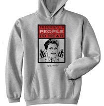 George Orwell - Freedom Is - New Cotton Grey Hoodie - $31.88