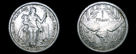1949 New Caledonia 1 Franc World Coin - $5.99