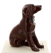 Hagen-Renaker Miniature Ceramic Dog Figurine Chocolate Labrador Sitting image 4