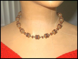 Vintage 1930s Art Deco West German Glass Necklace - $25.00