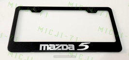 Mazda 5 Stainless Steel Metal License Plate Frame Rust Holder Free W/ Bolt Caps - $13.50