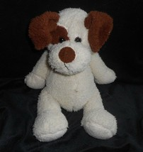 "12"" 2008 Animal Adventure Baby Creme & Brown Puppy Dog Stuffed Plush Toy Lovey - $25.76"
